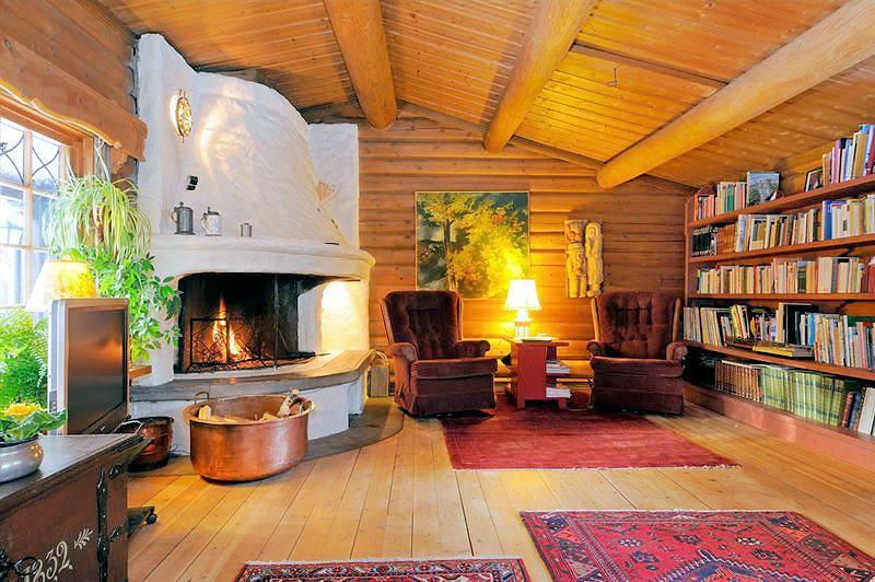 uriges wohnzimmer:Galeriebild Stenbacken – uriges Blockhaus mit hohem Standard auf der