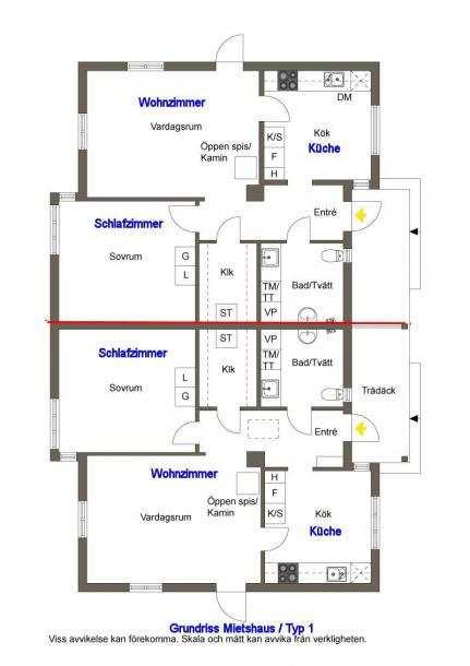 Grundrisse Mietshäuser Typ 1 + Typ 2 | Schweden Immobilien Online