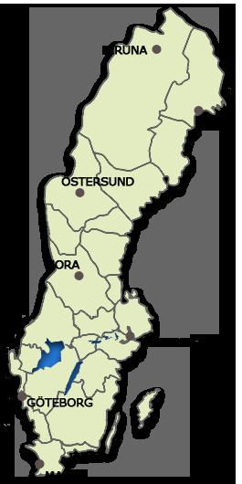 Schweden Karte Regionen.Haus Am See Seenahe Schweden Immobilien Online